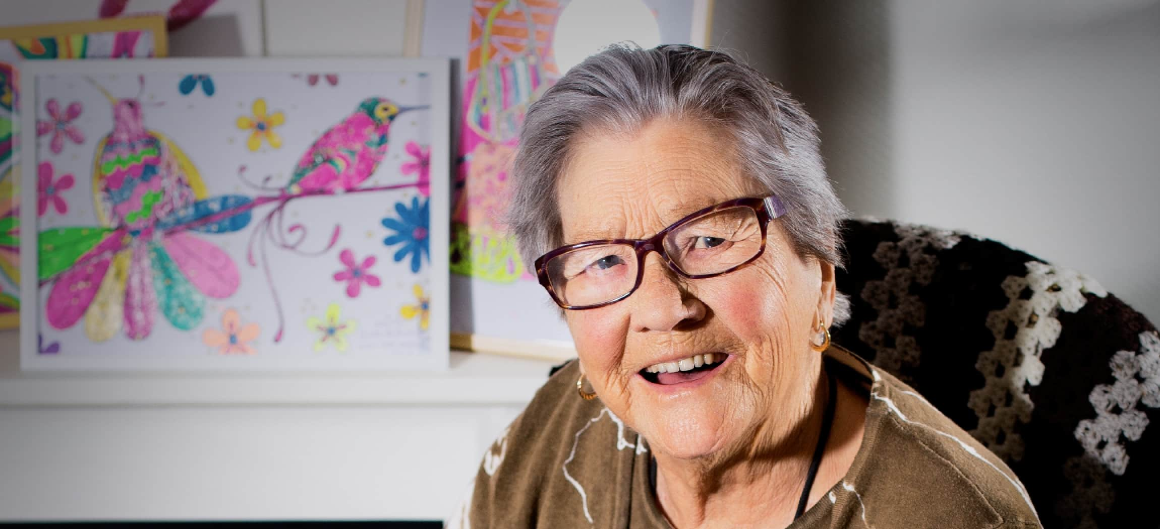Mevrouw Cohen woont in zorgcentrum De Bogt-Westerbeer - uit de serie Mensen van Amstelring