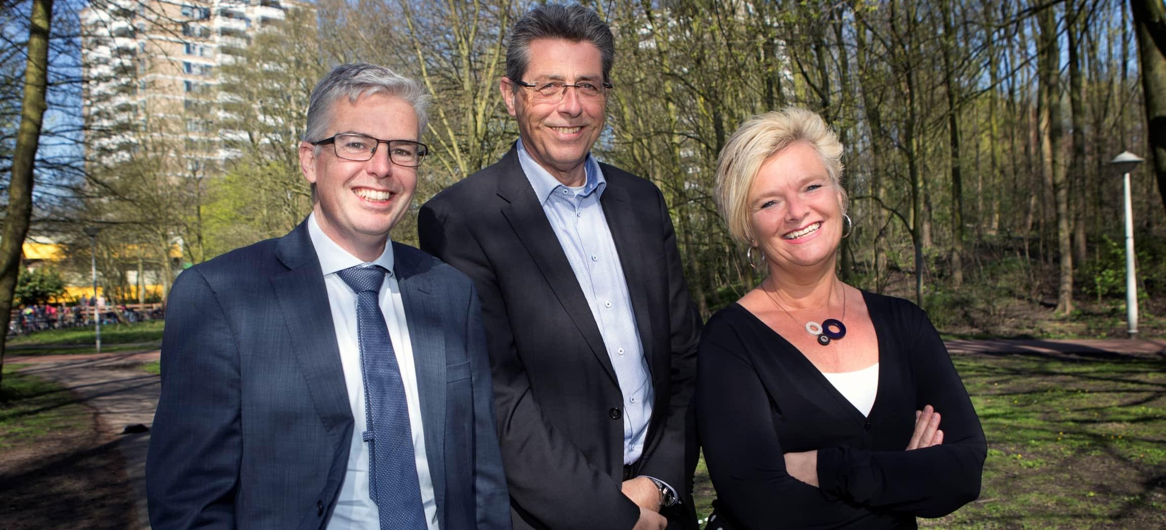 Raad van Bestuur Amstelring: Ivo van der Klei, Eric Hisgen en Inge Borghuis (vlnr)