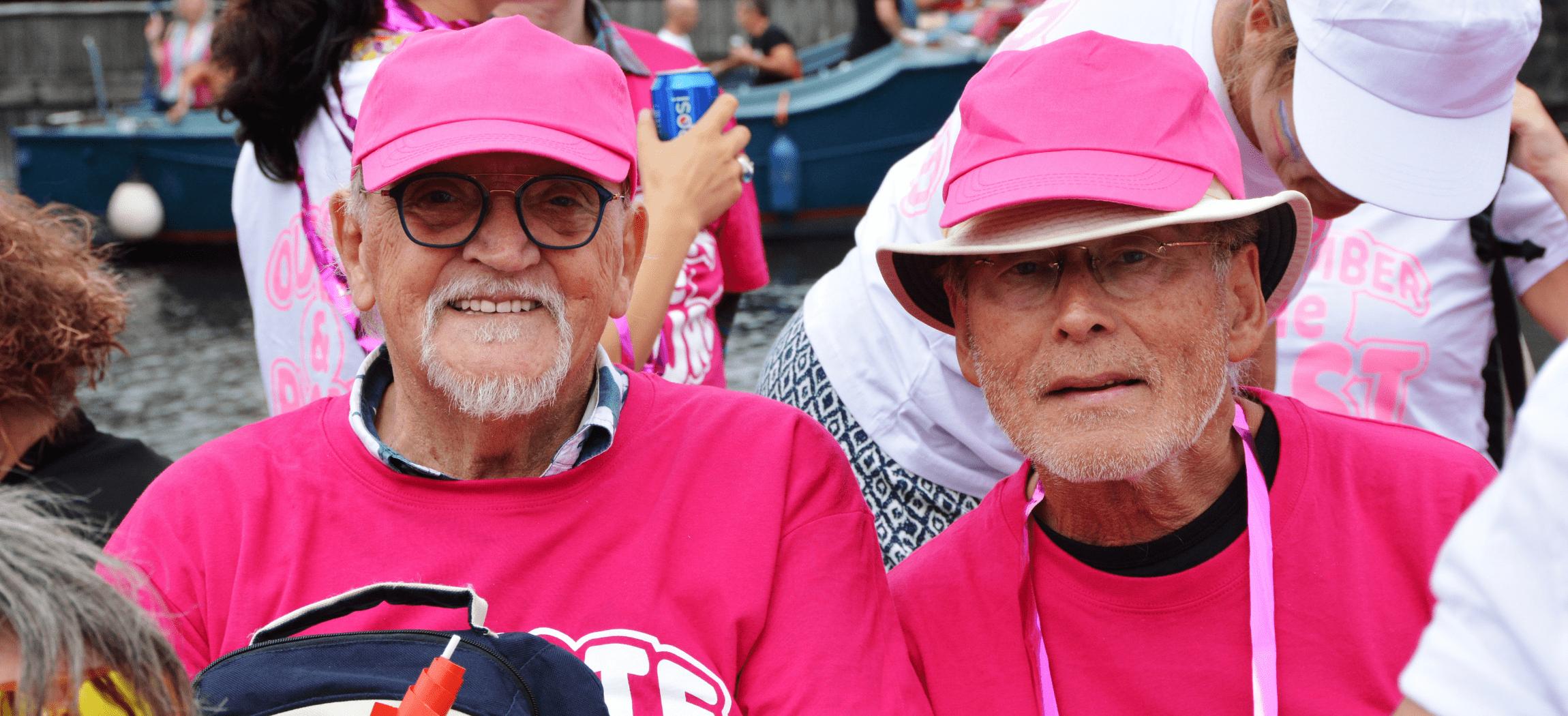 'Roze boot' van Amsterdamse ouderenzorg organisaties tijdens de Canal Pride 2019