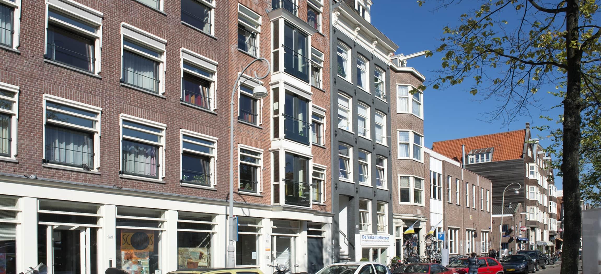 Amsterdamse panden aan de Westerstraat in de Jordaan
